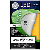 GE 4/10/16W A21/E26 3-Way General LED Bulb Soft White