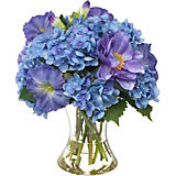 Diane James Mixed Blue Bouquet in Cinched Vase