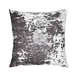 Aviva Stanoff Crushed Velvet Silver Pillow
