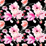 Gracious Home Miami Black Wallpaper