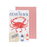 Now Designs Crab Shack Dish Towels, Set of 2