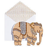 John Robshaw Gold Elephant Stationery Set of 6
