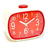 Infinity That 70's Alarm Clock, Ivory/Red