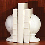 Global Views Marble Sphere Bookends Pair