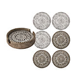Kim Seybert Mandala Coasters - Set of 6