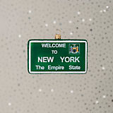 IMPULS New York Welcome Sign Ornament