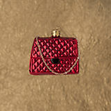 Christborn Red Quilted Chanel Purse Ornament
