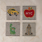 Sudha Pennathur NYC Icons Coasters - Set Of 4