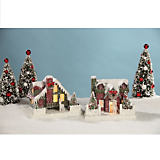 Bethany Lowe Designs Red & Green Vintage Houses - Set of 2
