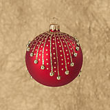 Dagmara Red with Gold Drops Ball Ornament