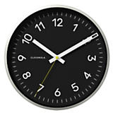 Cloudnola Now Black/Silver Wall Clock