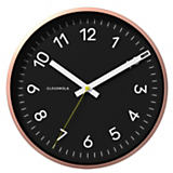 Cloudnola Now Black/Copper Wall Clock