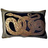 Via Venezia Snake Blue Large Pillow