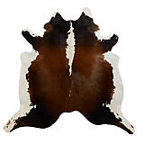 Saddlemans Black, Brown, and White Cowhide Rug
