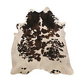Saddlemans Exotic Tri Color Cowhide Rug