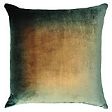 Kevin O'Brien Studio Ombre Green and Gold Silk Velvet Pillow