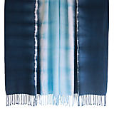 Kevin O'Brien Studio Shibori Cyan Indigo Throw