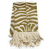 Dransfield And Ross Zebra Gold Runner with Feather
