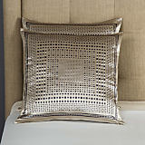 Frette Lux Relief Beige & Grey Cushion
