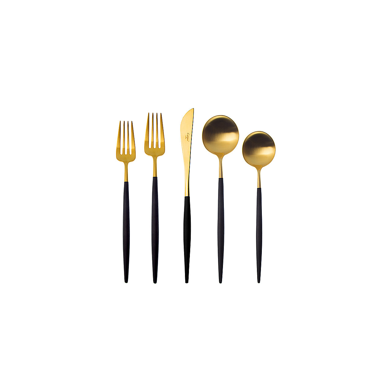 Cutipol Goa Blue and Gold 5 Piece Place Setting