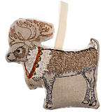 Coral & Tusk Reindeer with Bells Ornament