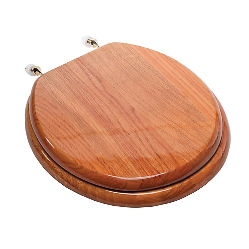 Comfort Seat Gloss Wood Standard Toilet Seat