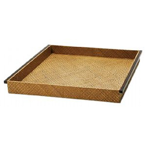 Pandan Tray with Palm Wood Handles