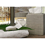 Silver Banana Leaf Bath Accessories