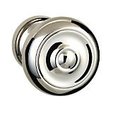 "473 Privacy Knob Set with 2-5/8"" Rose By Omnia"