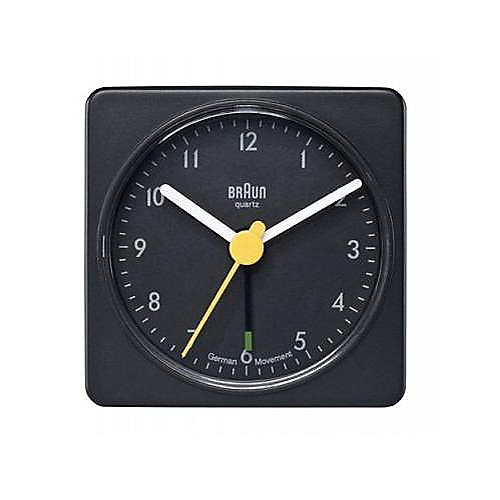 Braun Square Quartz Alarm Clock