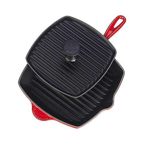 Le Creuset Panini Press & Skillet Grill with Utensil Gift Set