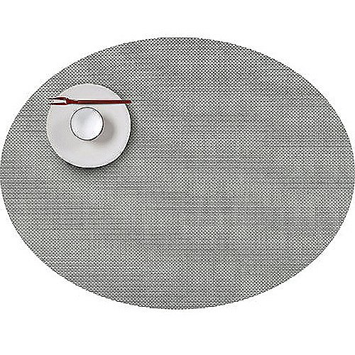 Chilewich Mini Basketweave Aloe Oval Placemat