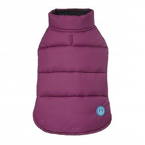 FabDog Reversible Black/Purple Puffer Jacket