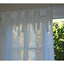 Pom Pom at Home Linen Voile Tie Top Curtain Panels