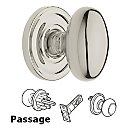 Baldwin 5025 Passage Egg Knob with 5048 Rosette
