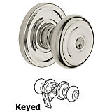 Baldwin 5210 Colonial Keyed Entry Knob w/ Classic Rose