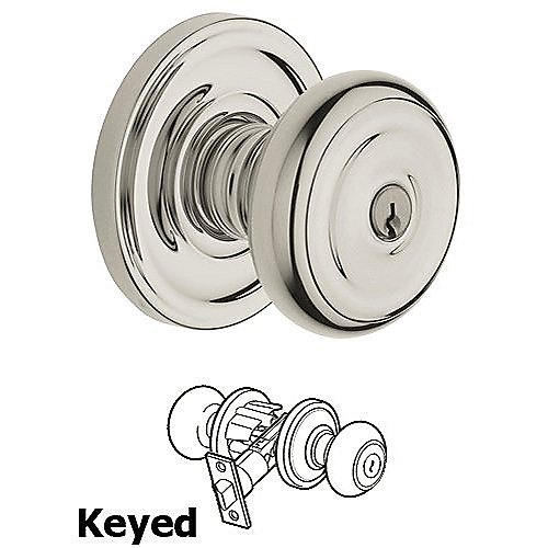 Baldwin 5211 Colonial Keyed Entry Knob w/ Classic Rose