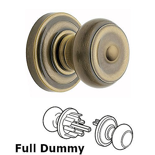 Baldwin 5210 Colonial Full Dummy Knob w/ Classic Rose