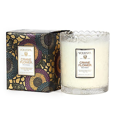 Voluspa Scalloped Edge Glass Candles