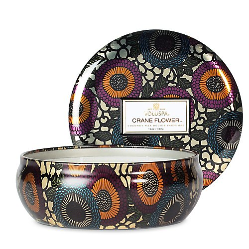 Voluspa 3 Wick Candles In Decorative Tin