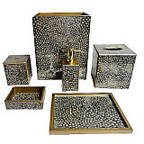 Waylande Gregory Mosaic Metallic Bath Accessories