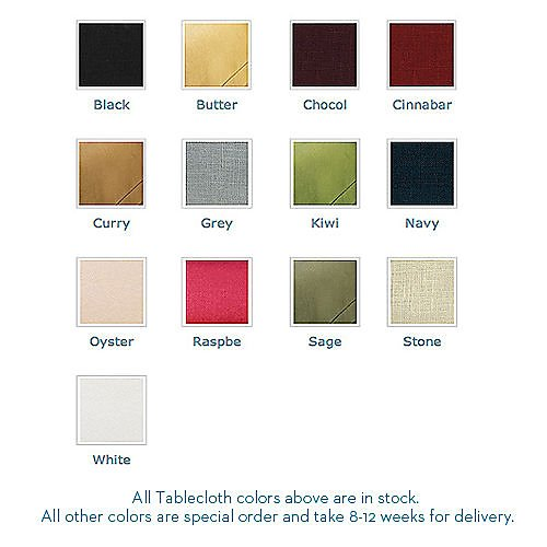Tablecloth colors