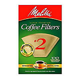 Melitta No. 2 Natural Brown Filter Paper, 100 Ct.
