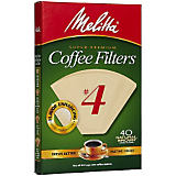 Melitta No 4. Natural Brown Filter Paper, 100 Ct.