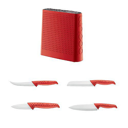 Bodum 5-Pc. Ceramic Knife Set with Block