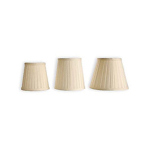 "4"" Clip-On Candelabra Flat Pleat Shade"