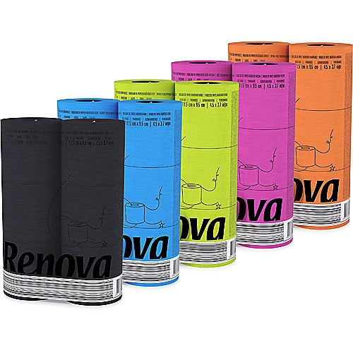 Renova Colorful 6 Pack Toilet Paper