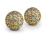 L'Objet Pave Sphere Salt and Pepper Shakers