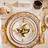Juliska Gold Acanthus Dinnerware Collection