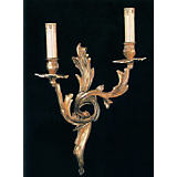 Martinez&Ortz Casted Brocade Double Sconce
